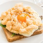 easy cloud eggs recipe on toast