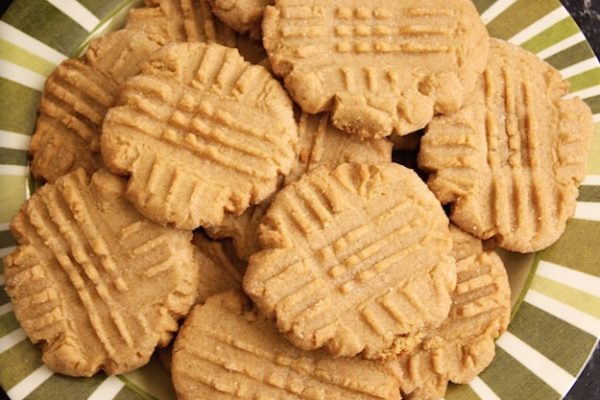 Flour-less 3 Ingredient Peanut Butter Cookies