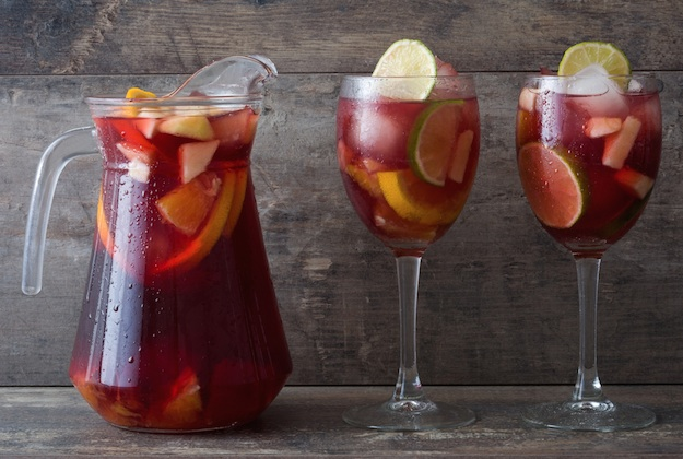 Super Easy Sangria Recipe made with brandy, red wine, orange juice and fresh fruit! It's perfect for summer, or any time of year!