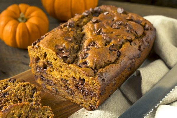 3 Ingredient Chocolate Chip Pumpkin Bread