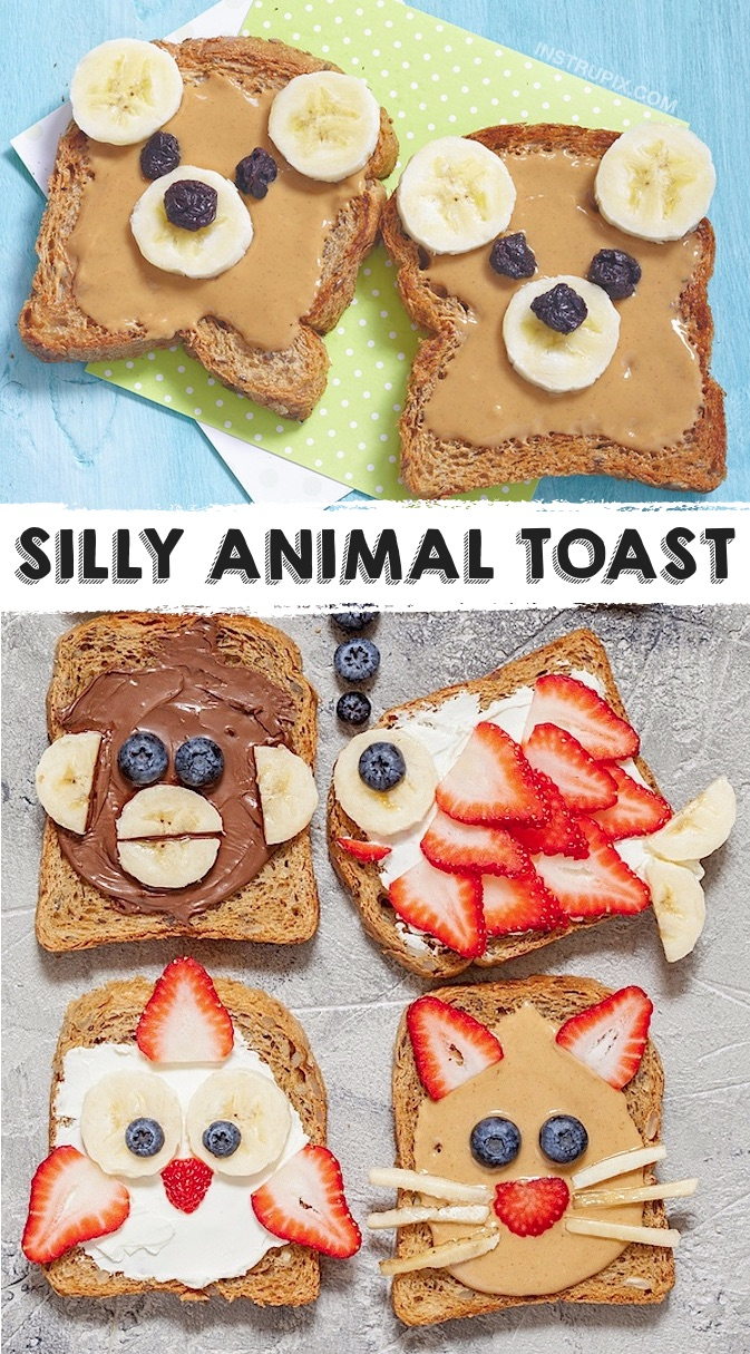 Fun, cute and easy snack ideas for kids. Quick and healthy to make, too! These quick and easy fun food ideas are perfect for toddlers, picky eaters and kids of all ages. Everything from breakfast to cheap on the go snacks for sports, on the go and school. #funfood #snacksforkids #instrupix