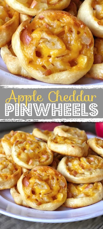 Easy fall appetizer idea. Apple Cheddar Pinwheels Recipe
