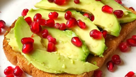 Pomegranate Avocado Toast