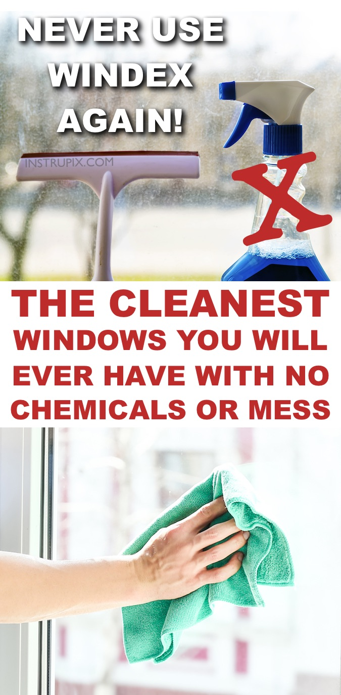 How to clean windows indoors and outside without any streaks, lint or chemicals! It works on mirrors, cars, windows or any glass surface in your home. Tips for cleaning windows. Instrupix.com