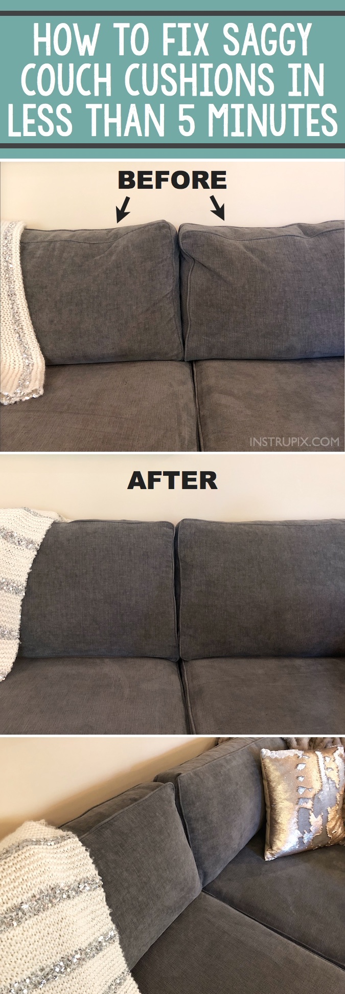 Tip How To Fix Saggy Couch Cushions A Life Hack Everyone