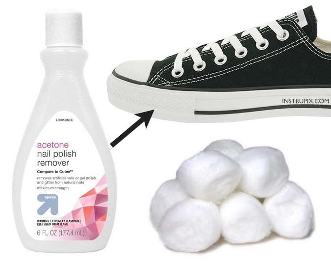 how to clean your converse rubber