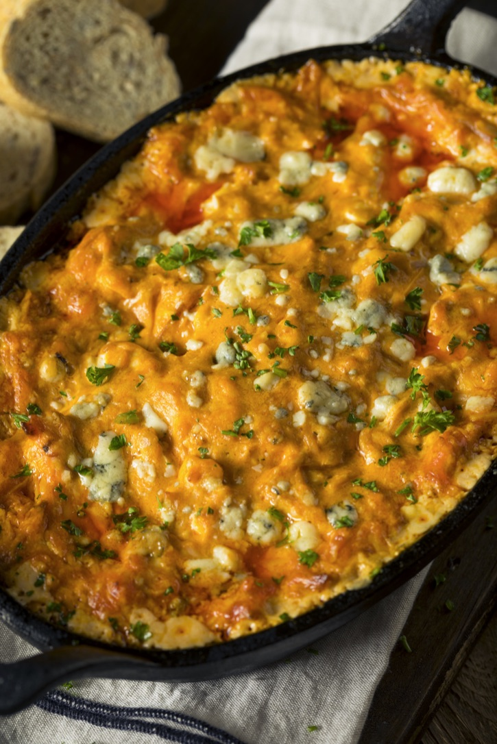 Easy Buffalo Chicken Dip Recipe -- The BEST party appetizer dip idea, ever!