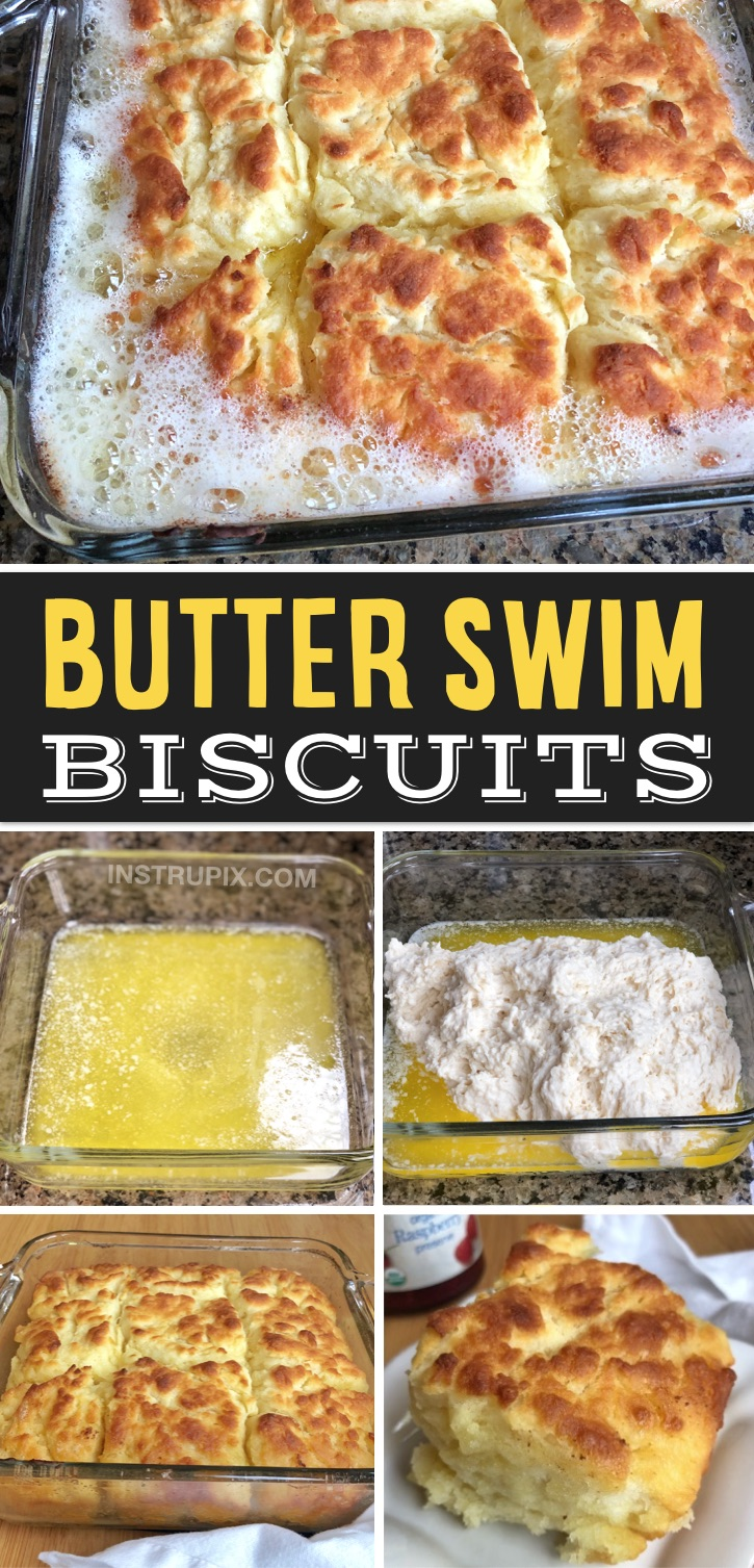 These homemade buttermilk biscuits are super moist on the insdie with a flaky, buttery crust. Absolutely incredible! Quick and easy to make with just a few ingredients that you probably already have on hand. They are fantasic for breakfast with a little jelly or gravy, but can also be served as a yummy side dish for dinner. Some serious southern comfort food! Your kids will love them, plus they are really fun to make with melted butter. Made with all purpose flour and NO lard. So simple!