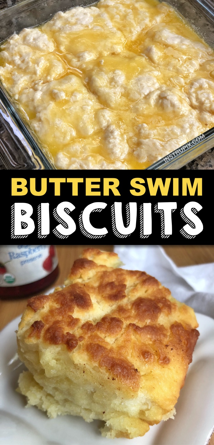Quick and easy homemade buttermilk biscuits swimming in butter! The ultimate southern comfort food. These southern style buttermilk biscuits are perfect for breakfast with gravy, jelly or honey, or served as a side dish for dinner. They go great with chili, meat and soup. One of the best recipes on Pinterest ever, seriously! Your grandmothers would be so proud. They bake up in no time and the entire family will love this simple side dish as it goes with  any meal. #comfortfood #instrupix