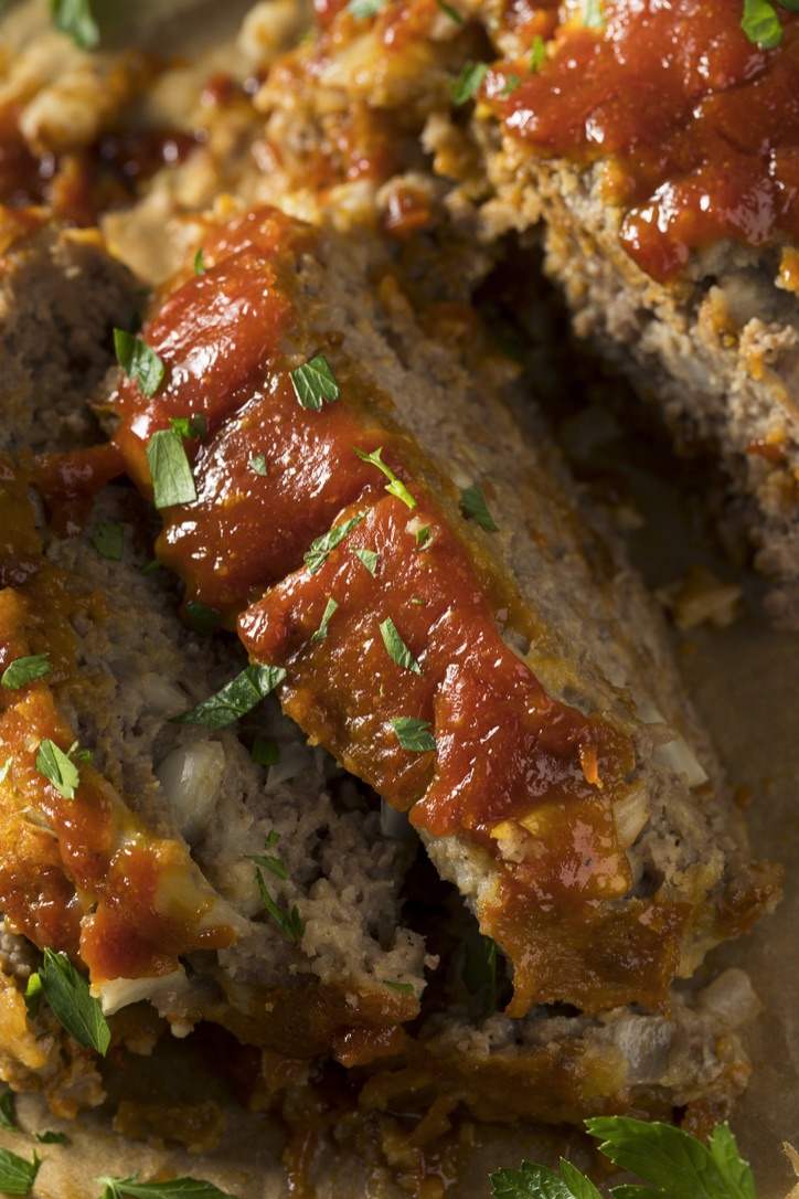 The Best Easy Meatloaf Recipe (Made with stuffing!) A really quick and easy family dinner recipe made with ground beef. On a budget, too!