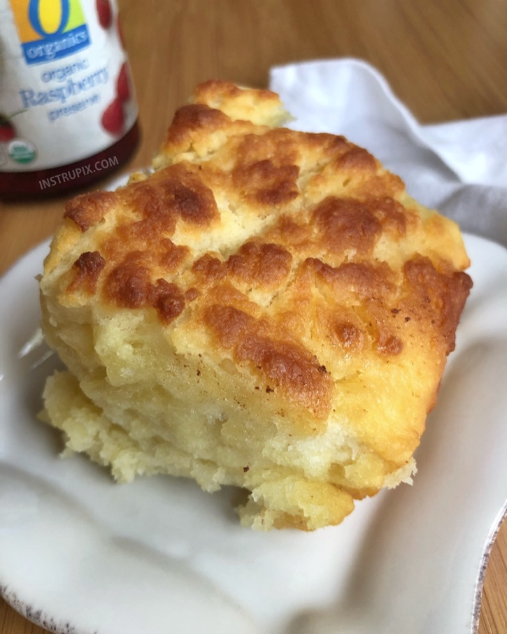 Quick, simple and easy homemade butter biscuits recipe! It takes just a handful of ingredients to make these delicious butter swim biscuits-- easier than drop biscuits! They are the BEST addition to breakfast, lunch or dinner! | Instrupix.com