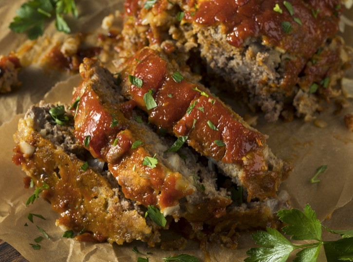 Easy Classic Meatloaf Made With Boxed Stuffing! A simple and cheap dinner family dinner recipe made with ground beef.