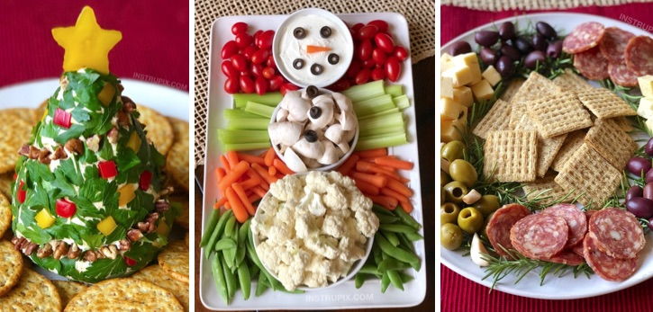 Easy Make Ahead Holiday Party Appetizers For Christmas. Looking for easy finger foods for a Christmas party? Check out these simple and fun no bake and healthy Christmas appetizer ideas. Perfect for a crowd or large family.