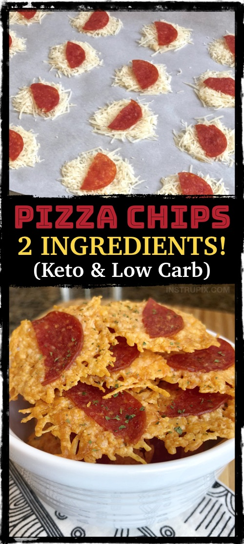 Low carb keto chips made with cheese and baked in the oven. Just 2 ingredients! The Best quick and easy keto snack. #instrupix
