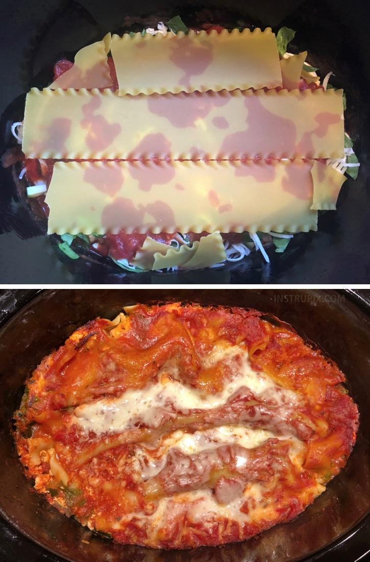 I LOVE this easy dinner recipe! My family begs for it.... simple and easy classic lasagna made in a crockpot! | Instrupix