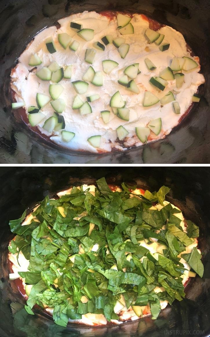 Easy vegetarian dinner idea! Crockpot Lasagna. The leftovers are the best.