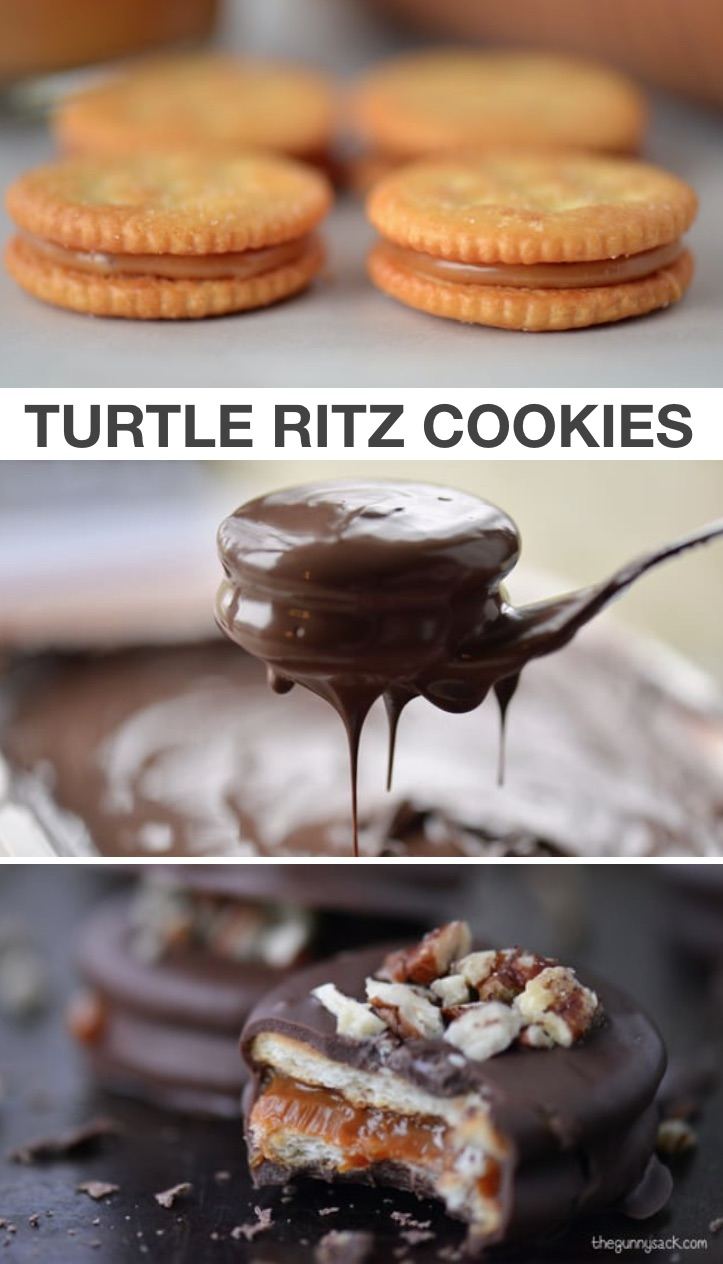 8 Crazy Cool Treats To Make With Ritz Crackers (Turtle Cookies) | These Ritz cracker recipes are perfect for making treats, snacks, sandwiches and even pizza! Quick and easy snack ideas for kids. #ritz #snacks #treats #instrupix #kidssnacks #easyrecipes #cookies