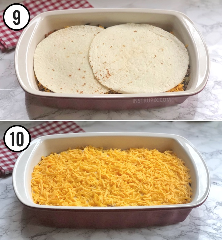 Easy Taco Lasagna Recipe From Instrupix