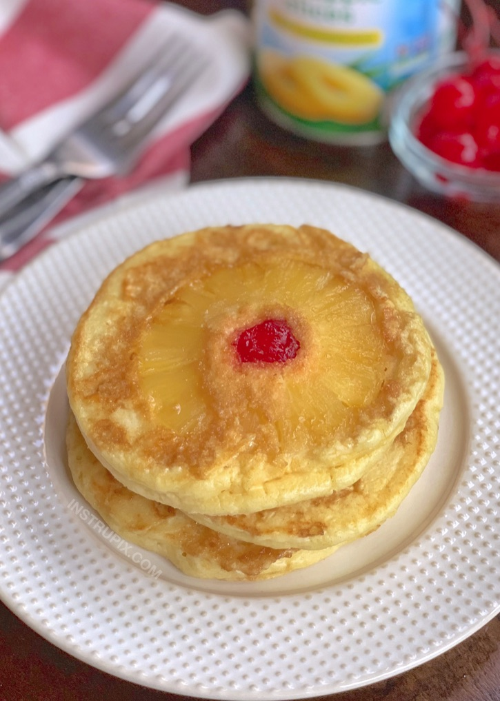 Delish! Pineapple Upside Down Pancakes Recipe (quick and easy to make!)