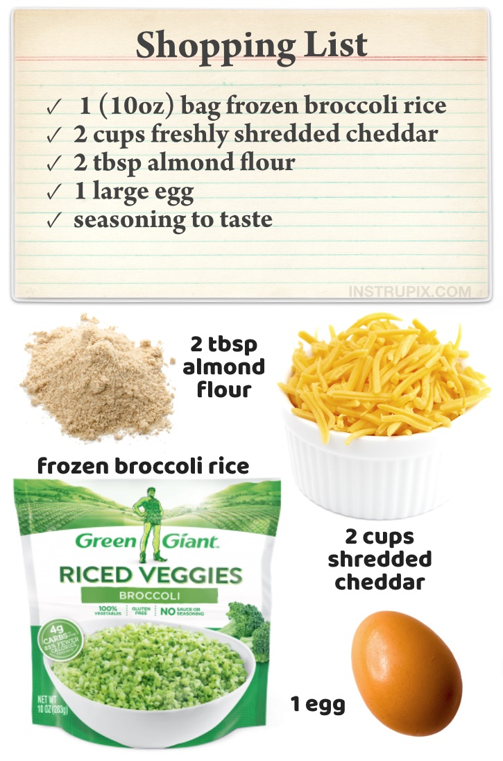 Quick And Easy Keto Snack Recipes (Healthy Low Carb Broccoli Cheese Rounds) Just like tots but flattened to make them extra crispy! This delicious low carb snack is really simple to make with just a few ingredients: frozen broccoli rice, cheddar cheese, almond flour and egg. Even my picky kids love this keto snack recipe! Filling enough to even be a meal.