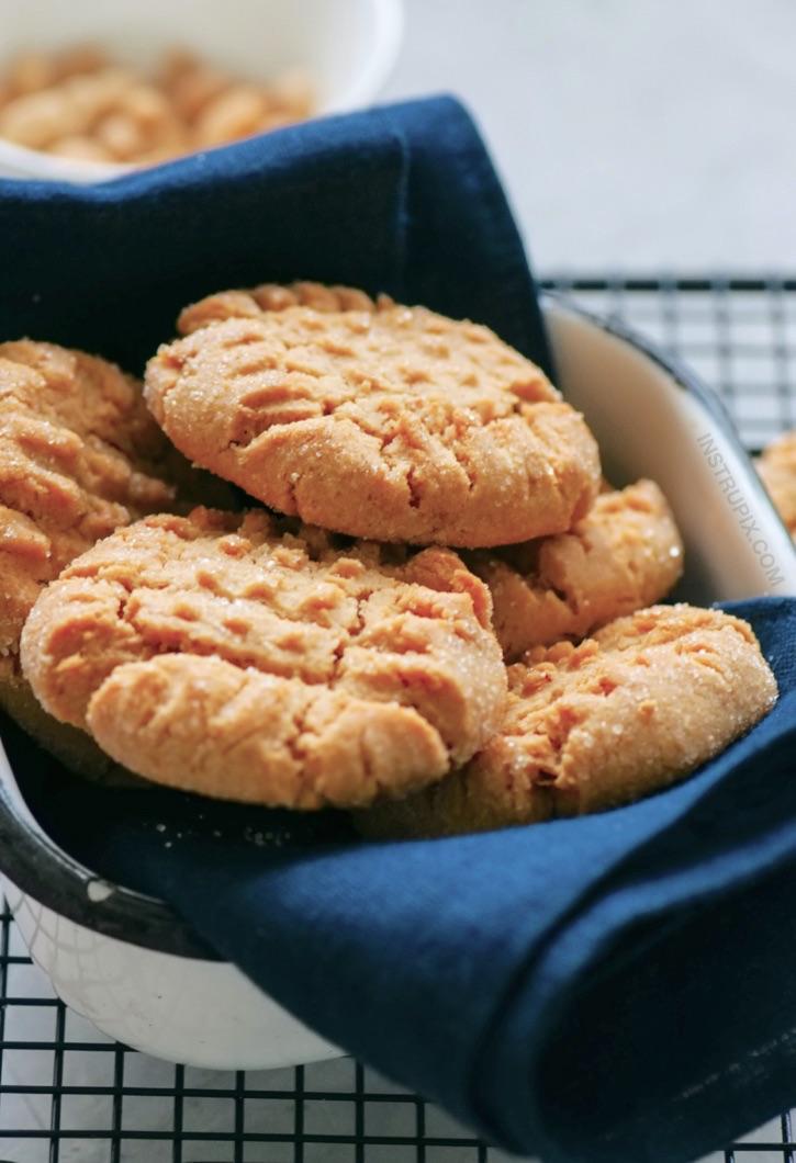 Keto Low Carb 3 Ingredient Peanut Butter Cookies Recipe