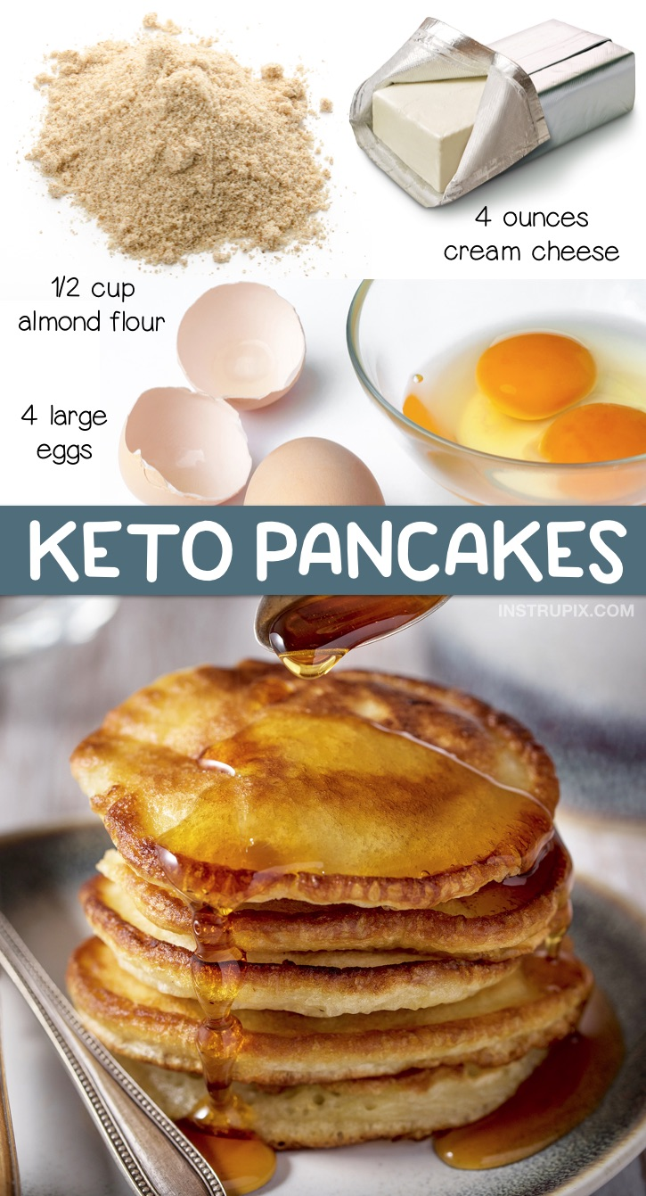 The BEST 3 Ingredient Keto Pancakes - Instrupix