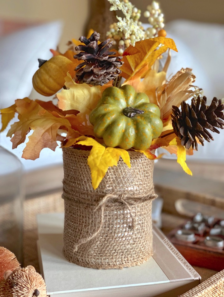 Burlap Coved Tin Can Makeover -- 6 easy ways to dress up a tin can. These are beautiful for holiday displays! A cheap and easy DIY craft idea that anyone can make. Kids and adults!