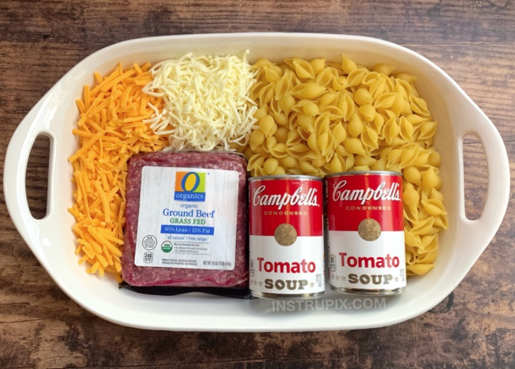 Easy Hamburger Casserole Recipe 4 Ingredients Instrupix