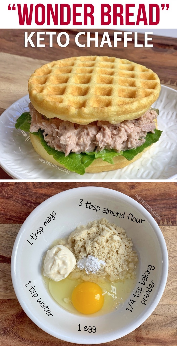 Looking for easy keto lunch ideas for work or home? This super easy low carb chaffle