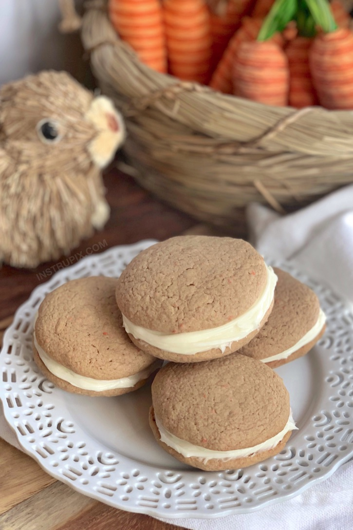 Simple Carrot Cake Sandwich Cookies made with just 4 ingredients!
