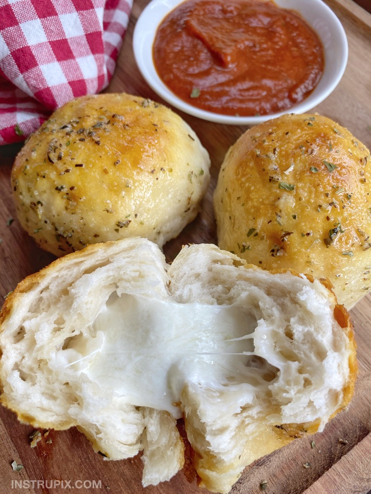 Pillsbury Biscuit Recipe - Garlic Butter Cheese Bombs. A quick and easy snack idea, appetizer and party food!