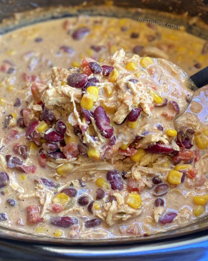 Tavuk ve krem peynir ile yapılan kolay yavaş pişirilmiş yemek tarifi