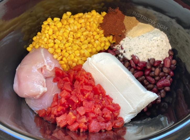 Yavaş pişirici kremalı tavuk biber tarifi - Yoğun hafta içi akşam yemekleri için hızlı ve kolay aile yemeği tarifi!