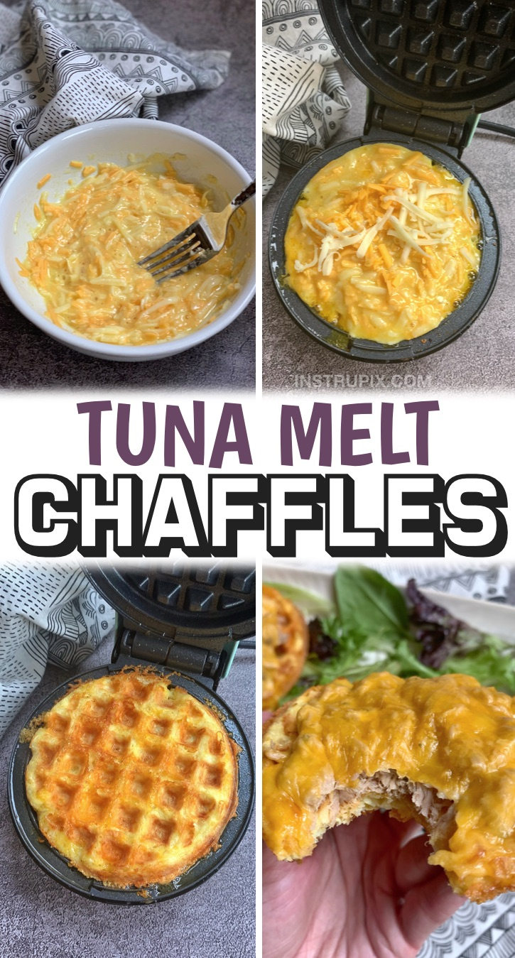 The Best Chaffle Recipes on Pinterest -- Easy Keto Recipes For Beginners | Whether you're looking for sweet breakfast ideas or a savory dinner, chaffles are the most amazing keto idea, ever! They make for the best low carb sandwich bread, pizza crust, breakfast waffles, desserts, snacks, lunch, toast and more. Plus they are quick and easy to make in your mini waffle maker in less than 5 minutes with just a few simple and cheap ingredients. Most of these recipes are made with almond flour, egg and cheese and a few other pantry staples.