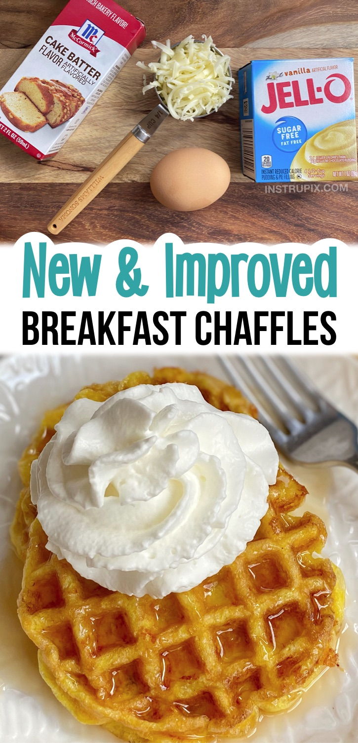 Sugar Free Jello Chaffles (new and improved way to make low carb and keto breakfast waffles). So sweet and delish! You'll never miss carbs again. The best breakfast idea for a ketogenic diet. The 10 Best Easy Keto Chaffles Recipes