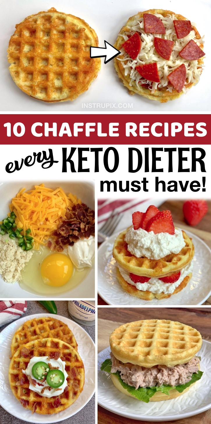The Best Easy Almond Flour Chaffle Recipes - If you're looking for easy keto chaffle recipes, you are in for a real treat! Chaffles are an amazing low carb replacement for waffles, sandwich bread and more. I've rounded up the best simple chaffle recipes– everything from sweet crispy breakfast waffles to savory sandwich bread. Most of these keto recipes are made with almond flour as I prefer it over coconut flour, and they only take a few minutes to make in your mini waffle maker. A great addition to breakfast, lunch and dinner!