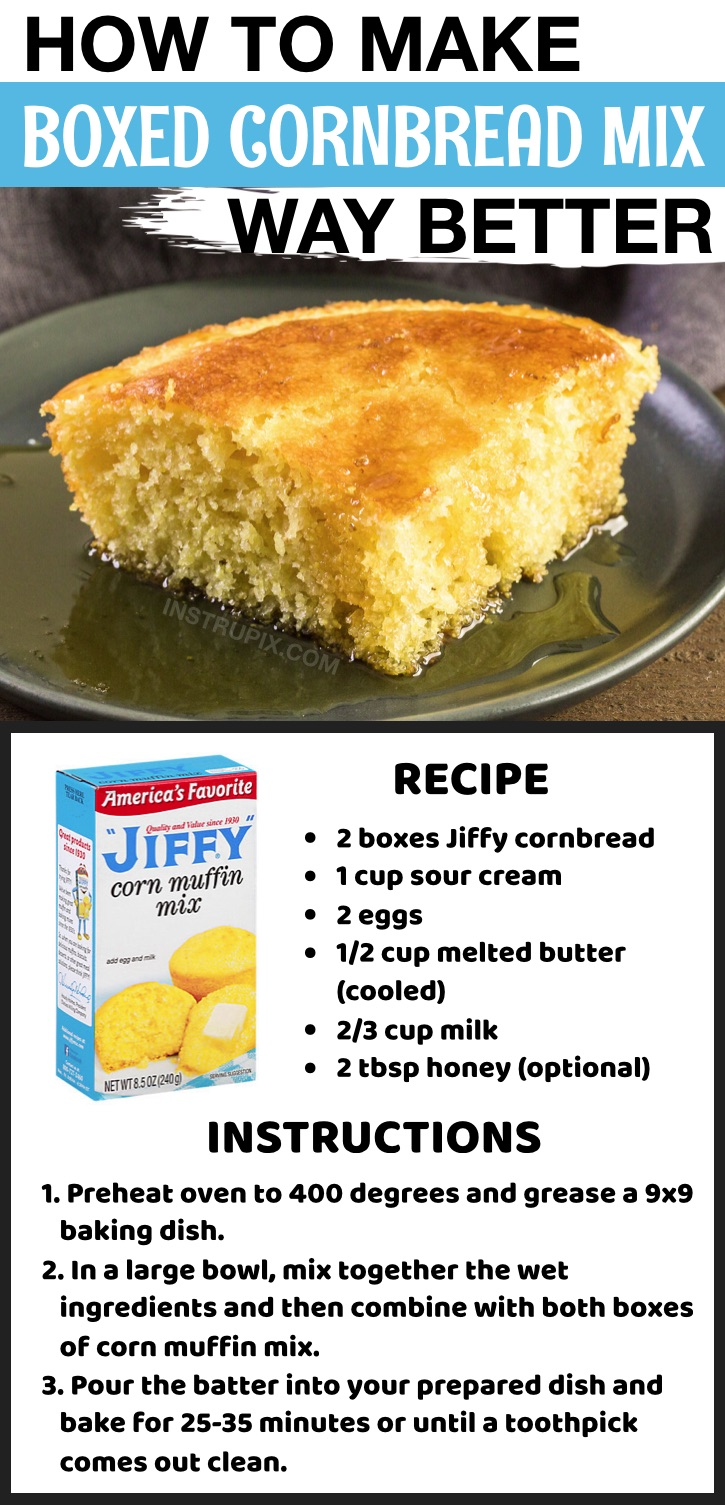 How to make Jiffy cornbread better with sour cream! So many tips and tricks here on how to make packaged food taste homemade.