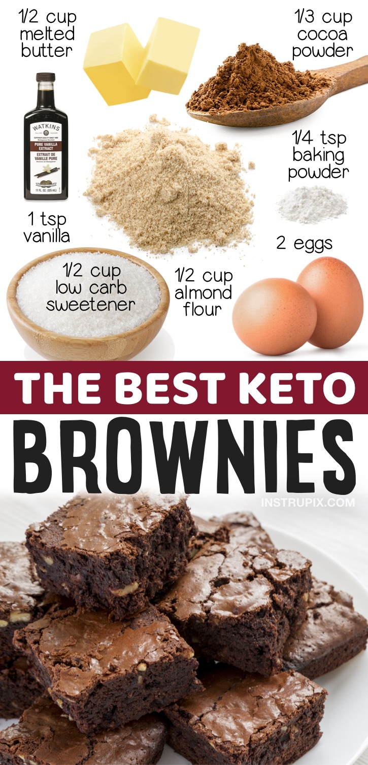 The Best Keto Brownies Ever | Looking for quick and easy keto desserts to make at home? These low carb fudgy brownies are so simple to make with almond flour! Lots of keto dessert ideas here!