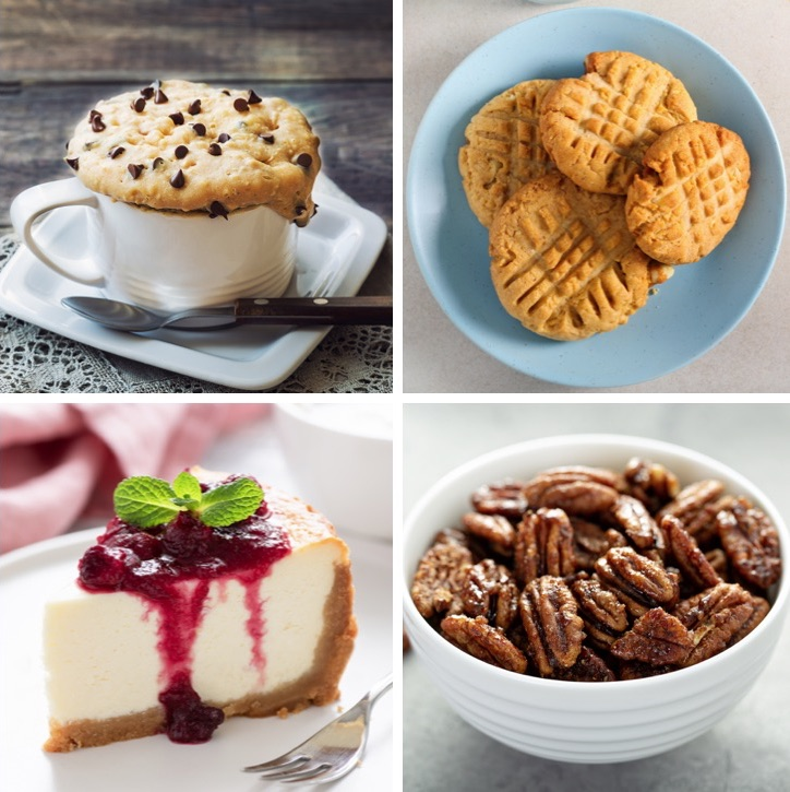 20 Easy Keto Dessert Recipes That Don't Taste Low Carb -- A list of quick and easy homemade keto desserts that are simple to make with just a few ingredients. Everything from no bake cookies to microwave mug cakes!