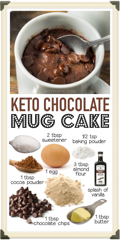 Der beste Keto-Schokoladen-Tassenkuchen aus Mandelmehl! So einfach in der Mikrowelle zuzubereiten. Wenn Sie zum Beispiel nach kohlenhydratarmen Desserts suchen, dauert die Zubereitung dieses Schokoladengenusses nur wenige Minuten mit Zutaten, die Sie wahrscheinlich bereits zu Hause haben. Ein Keto-freundliches und kohlenhydratarmes Dessert ohne Backen, das perfekt für Heißhunger in letzter Minute ist.