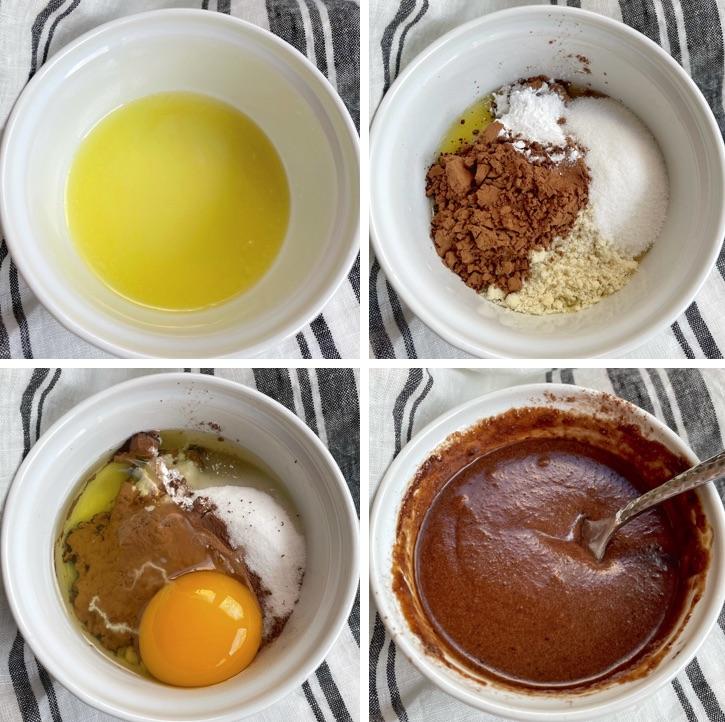 So machen Sie Keto-Schokoladen-Tassenkuchen in Ihrer Mikrowelle! Dieser kohlenhydratarme Leckerbissen ist das perfekte Dessert für einen und dauert nur wenige Minuten, mit Zutaten, die Sie wahrscheinlich bereits haben, wie Mandelmehl, Ei und Kakaopulver.