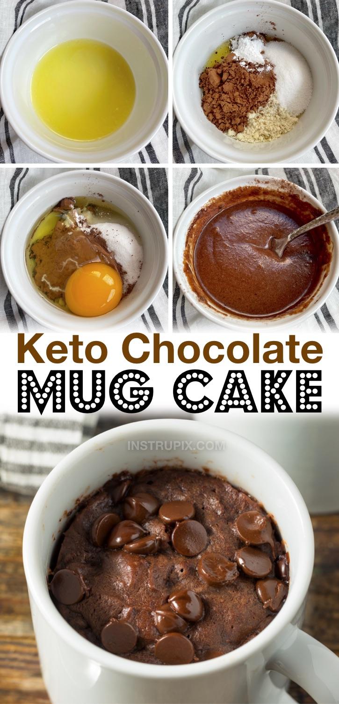 Einfaches Keto-Schokoladen-Tassenkuchen-Rezept (mit Mandelmehl) | Suchen Sie nach einfachen Keto-Desserts in letzter Minute? Dieser Mikrowellen-Tassenkuchen dauert nur wenige Minuten mit nur wenigen Zutaten! Es ist die perfekte Portion für einen. Perfekt für das Verlangen nach Zucker in letzter Minute, wenn Sie eine kohlenhydratarme Diät einhalten.