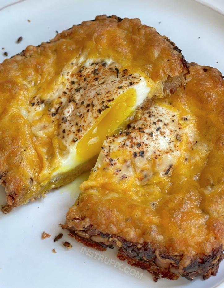 Yummy Breakfast Idea For Your Kids (Cheesy Egg Toast)