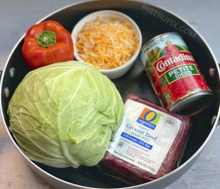 Easy Cabbage Roll Skillet (Keto & Low Carb Dinner Recipe)