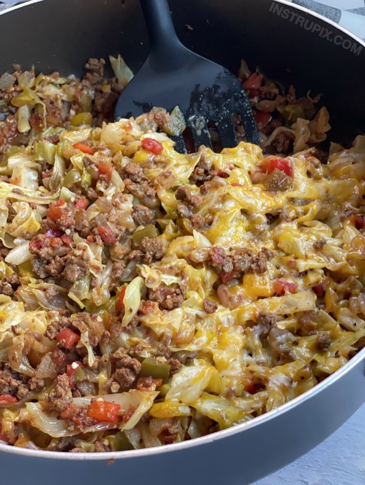 Ground Beef Cabbage Roll Skillet (Keto Dinner Recipe)